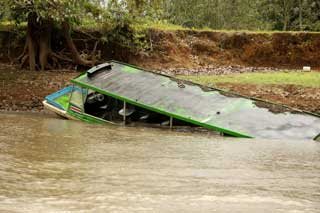 Gilligan's Island meets the Rio Frio. Hopefully this little mishap took place when no one was aboard.