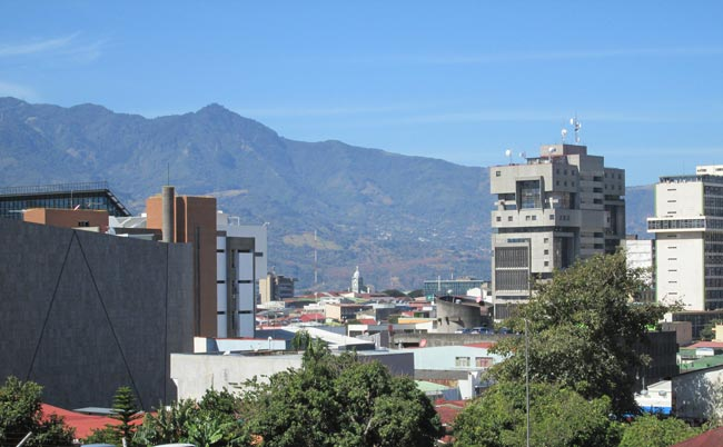 Nestled in a valley, San José is a bustling, if gritty place.