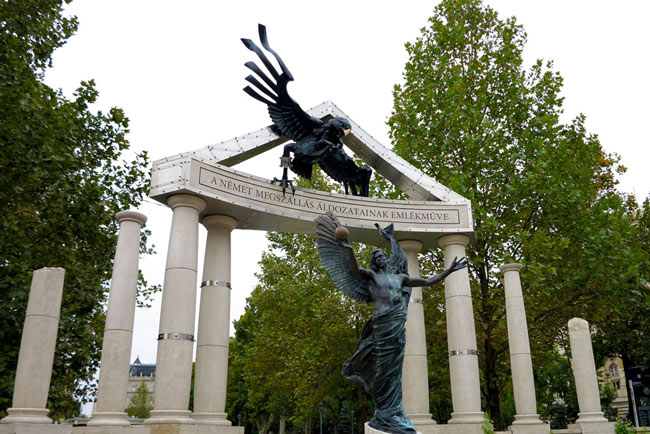 The official memorial to vicitims of the Nazi occupation, decried by critics.