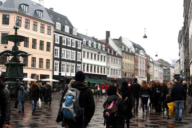 Copenhagen's Stroget: world's longest pedestrian shopping street?