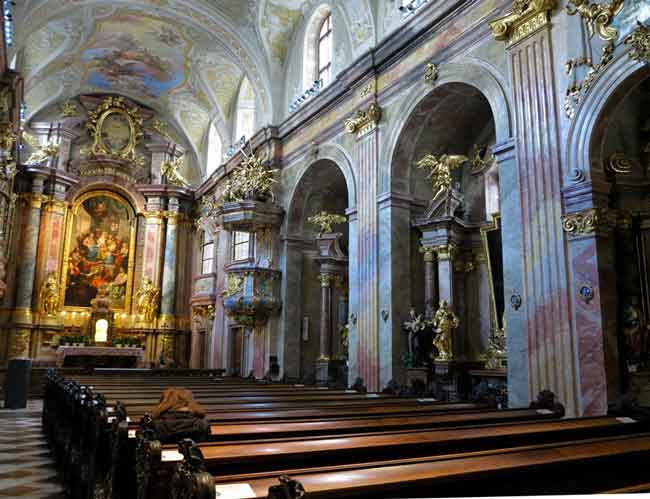 The interior of St. Anne's church in Vienna, where we saw a Baroque string quartet demonstrate how much music is part of the city's fabric.