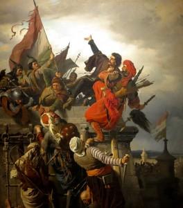 fighting-turks-on-tower